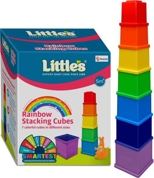Little's Rainbow Stacking Cubes