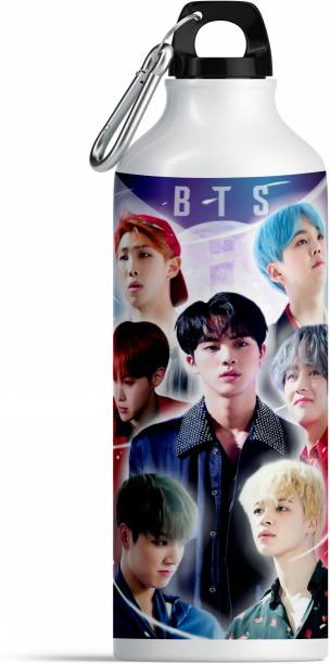 CHHAAP BTS Bangtan Boys Vogue Printed Aluminium Sports Sipper Music Band V Suga J-Hope Jungkook Jin Jimin Rm BTS Signature Army Best Gift for BTS Lovers Water Bottle Pack of 1 (BTS SIP01) 600 ml Water Bottle
