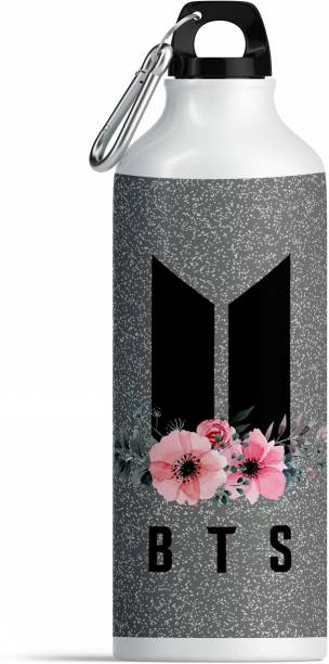 CHHAAP BTS Bangtan Boys Vogue Printed Aluminium Sports Sipper Music Band V Suga J-Hope Jungkook Jin Jimin Rm BTS Signature Army Best Gift for BTS Lovers Water Bottle Pack of 1 (BTS SIP14) 600 ml Water Bottle