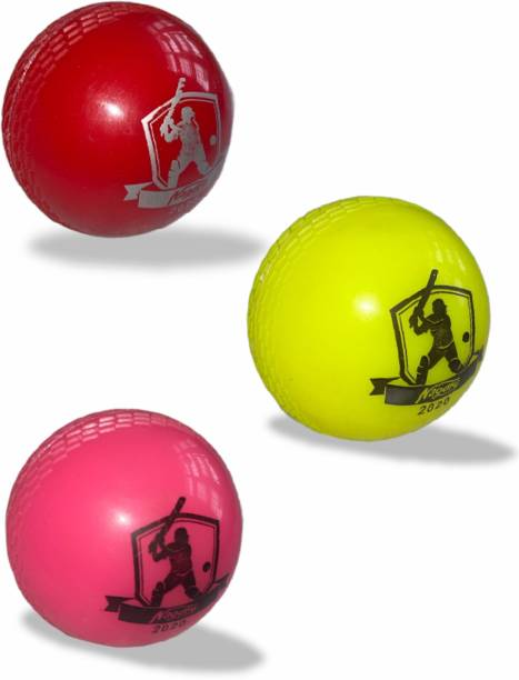 Parth Electronics Wind Ball Light 90 gm ball Pack of 3 Cricket Synthetic Ball