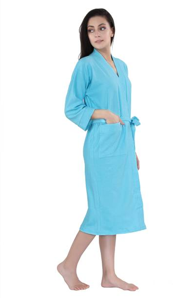 lacylook SKY BLUE Medium Bath Robe