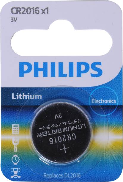 PHILIPS CR2016 lithium Coin Cell   Battery