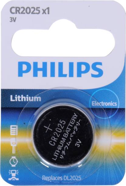 PHILIPS CR2025 Lithium Coin   Battery
