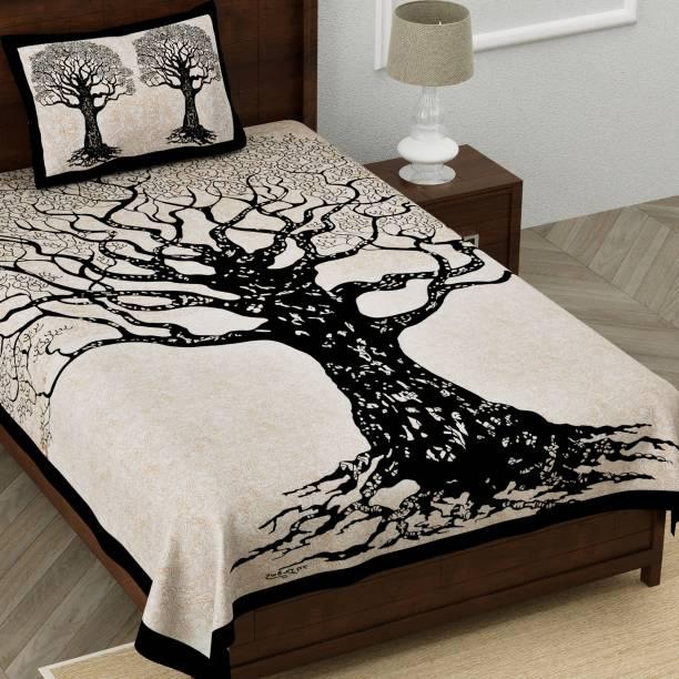 Homeline 150 TC Cotton Single Jaipuri Prints Bedsheet