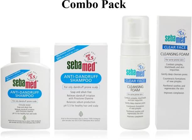 Sebamed Clear Face Foam (150 ml) + Anti- Dandruff Shampoo (200 ml) - Personal Care Combo