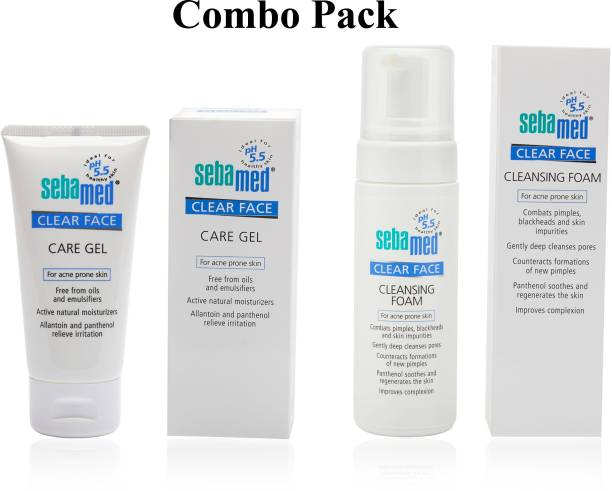 Sebamed Clear Face Foam (150 ml) + Clear Face Care Gel (50 ml) - Personal Care Combo
