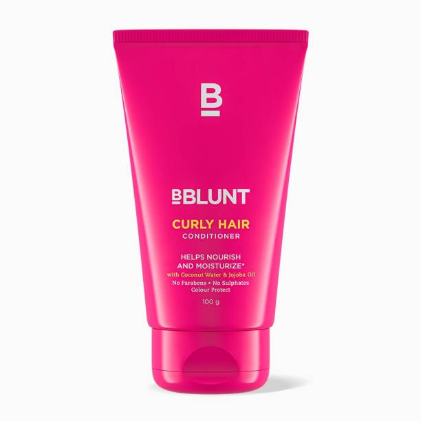 BBlunt Curly Hair Conditioner for dry/tangled curly hair, with Coconut Water & Jojoba Oil. No Parabens, Sulphates. 100gm