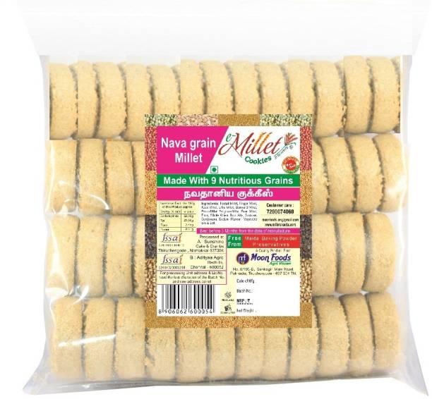 e-Millet Navagrain millet cookies pack of 500g x 1 nos Cookies