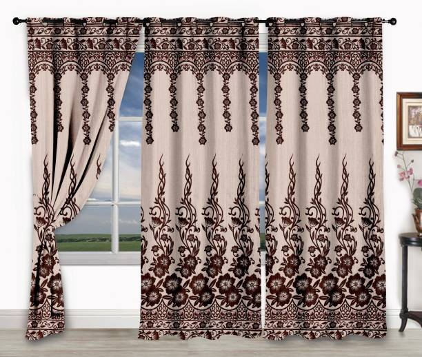 Story@home 152 cm (5 ft) Jacquard Window Curtain (Pack Of 3)