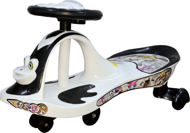 Childcraft Magic Car Black & White With Extra Safety Rideons & Wagons Non Battery Operated Ride On