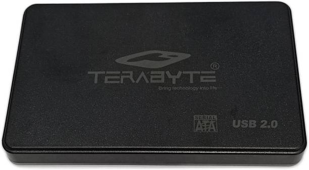 """TERABYTE 2in1 USB 2.0 External Hard Drive Laptop Casing for 2.5"""" SSD/HDD 2.5 inch HDD Screwless Enclosure 2.5 inch External sata casing"""