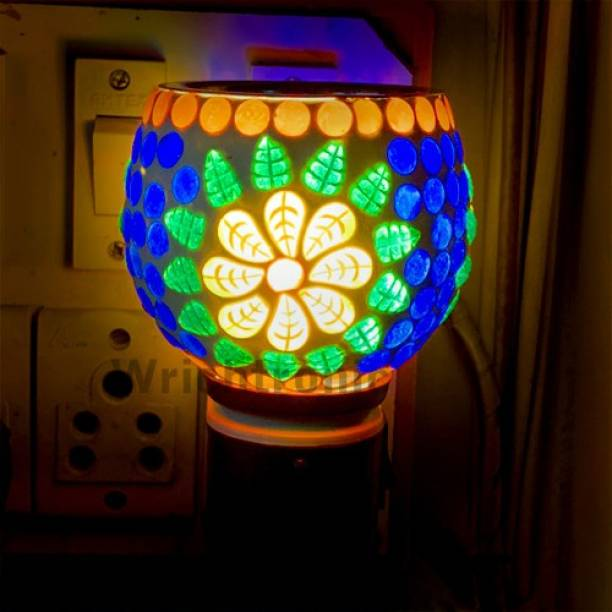 ASHTAMANGAL Electric Incense burner or kapoor dani With night lamp multicolour N_33 Glass Incense Holder