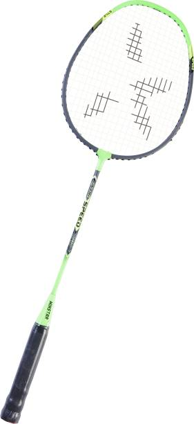 Winstar Badminton STAR SPEED Racquet with LEATHER Coverage(Pack Of 1)Sports Racquet Black, Green Strung Badminton Racquet