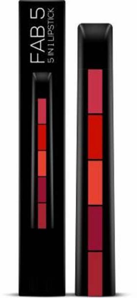 LA OTTER Fab 5 (5 in 1) Lipstick (Multicolor, 7.5 g)
