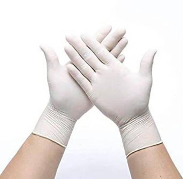 DM SPECIALLY FOR SPECIALIST Latex Medical Examination Hand Gloves, White, Medium, Latex Examination Gloves