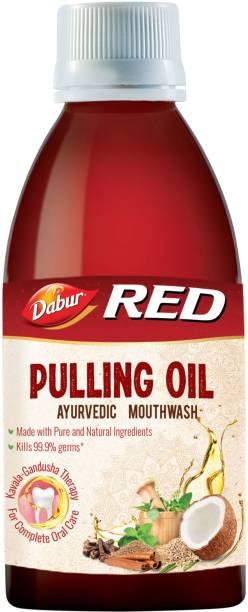 Dabur Red Pulling Oil :Ayurvedic Mouthwash| - Oral Detox for Teeths and Gums