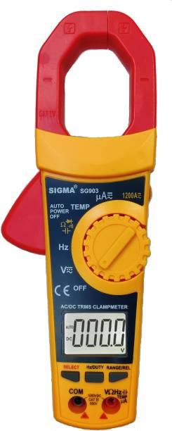 SIGMA AC DC Clamp Meter SG 903 TRMS, Current upto 1200A AC DC Digital Multimeter