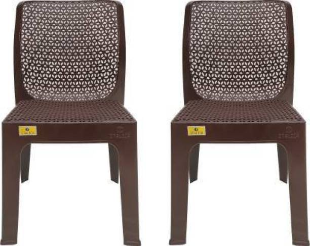 ITALICA 5202 Oxy Series Modern Stackable Plastic Armchairs for Outdoor, Home, Office & Garden Plastic Cafeteria Chair