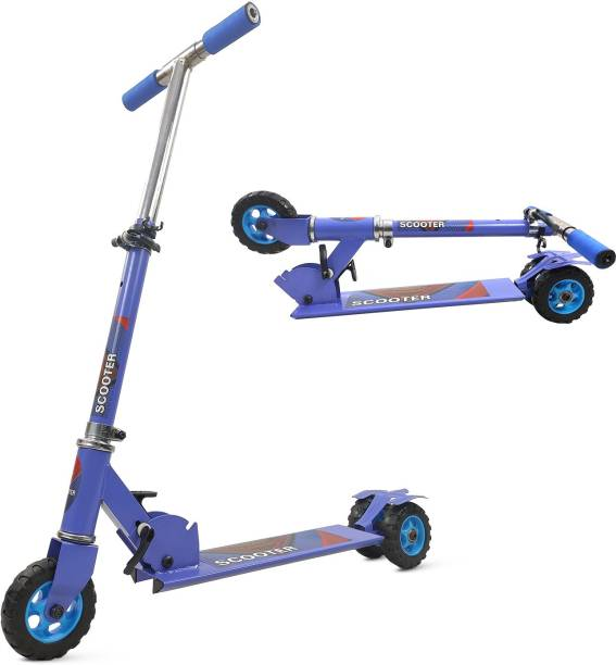 Miss & Chief 3 Wheel Adjustable Height Kids Scooter with Tractor Wheels (Weight Capacity 25 kg)