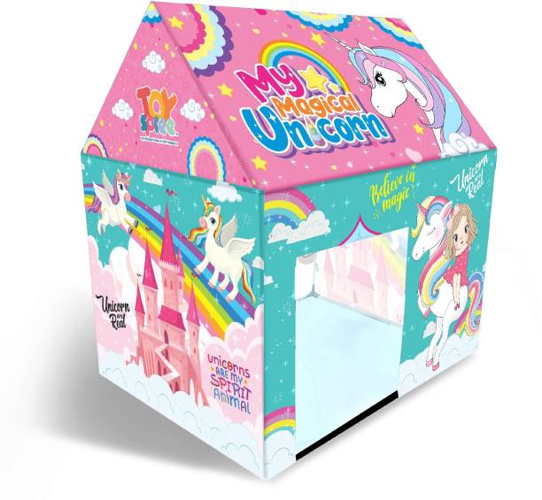 Miss & Chief Unicorn play tent house for Kids