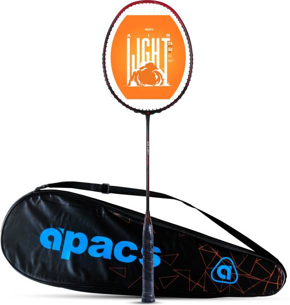 apacs Air Light 79 (Ultra Graphite, 30 LBS) Black, Red Strung Badminton Racquet