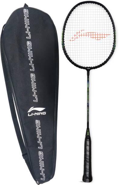 LI-NING Mega Power 5 Black/Green Strung Badminton Racquet (Pack of: 1, 90 g) Black, Green Strung Badminton Racquet