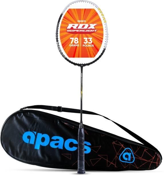 apacs RDX Superlite (78g, 33 LBS) Black, Yellow Strung Badminton Racquet