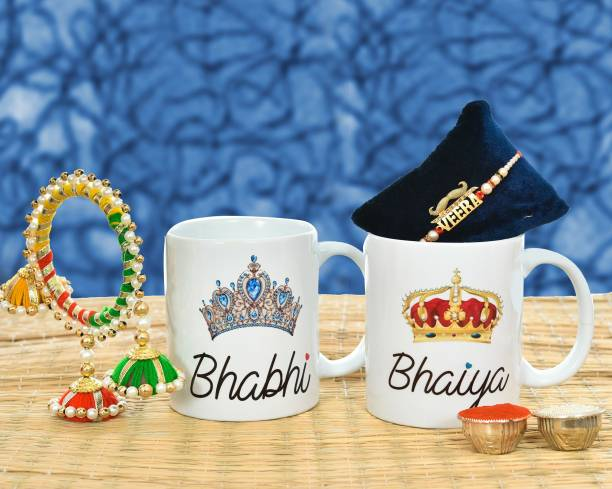 WINGS MART Bhaiya Bhabhi Rakhi, Mug, Chawal Roli Pack  Set