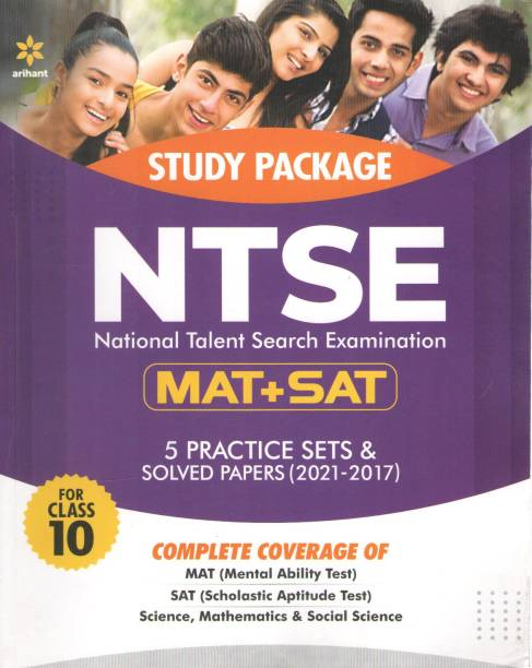 Study Package Ntse National Talent Search Examination (Mat+sat) 5 Practice Sets & Solved Papers (2021-2017) Class-10