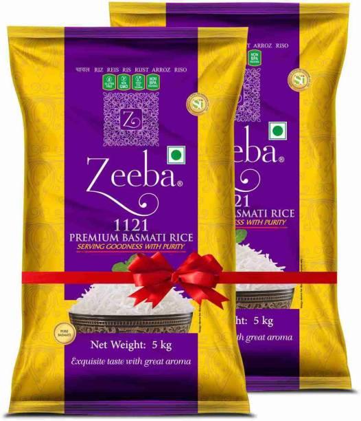 Zeeba PREMIUM 2*5 KG COMBO BASMATI RICE Long Grain Rice (Full Grain, Steam)