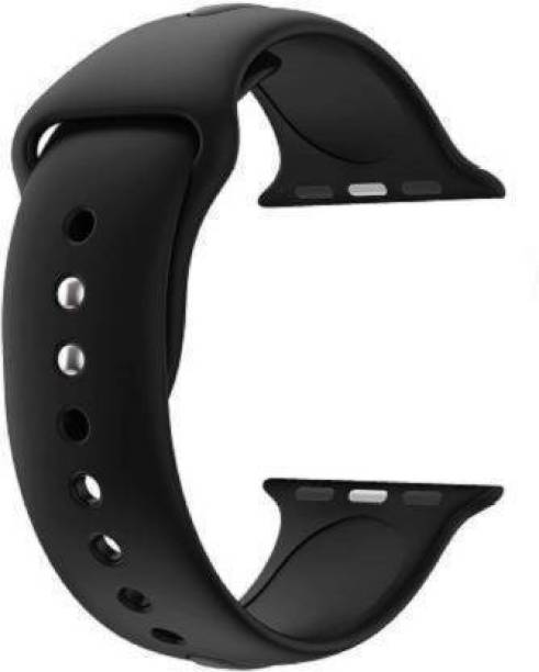 AIRSHO Watch Band 42/44 mm, Smooth, Soft, Rubber (Use In All Apple Watch 42/44 & Smart Watch W26, T55 Etc..) Smart Watch Strap