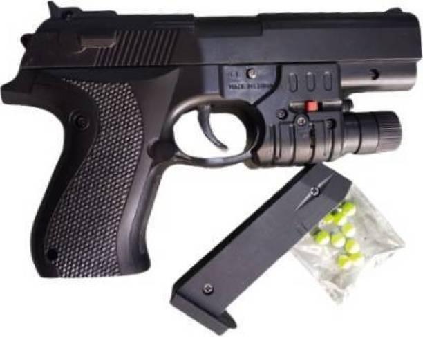 TOMUNCLE PUBG Mouser Pistol Gun with Laser Light for kids and boys Guns & Darts