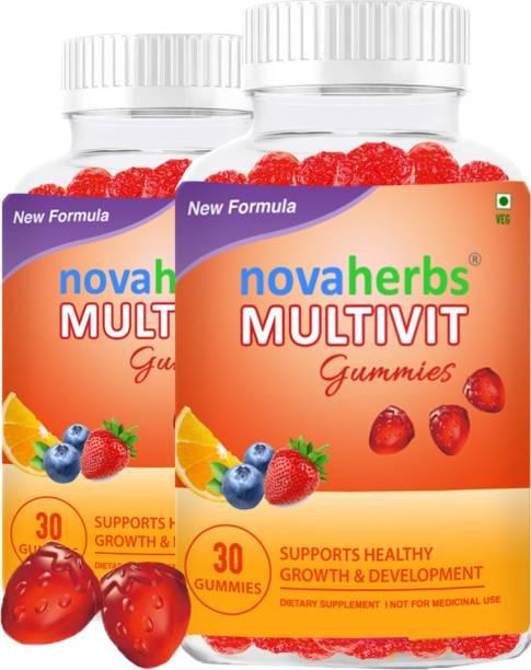Novaherbs Multivit Gummies | Pack of 2 | For Men, Women & Children