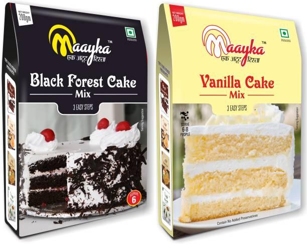 Maayka - Ek Atoot Rishta Mayka Black Forest & Vanilla Cake Mix 200gm+200gm 400 g