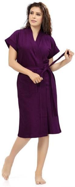 REGMESS Purple Free Size Bath Robe