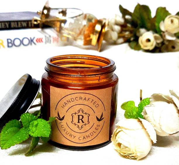 Ritih Beautiful and Scented Amber Jar Candle - Cyprus Fragrance Candle