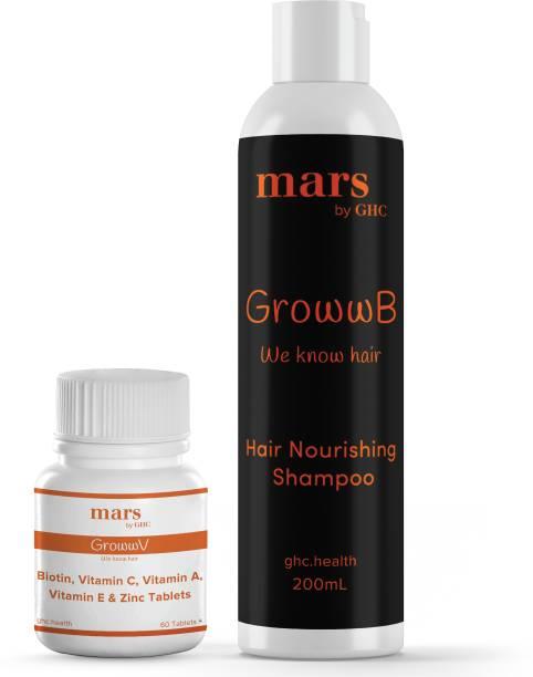 mars by GHC Hair Growth Combo (DHT Blocker Shampoo & Multi Vitamin Biotin)   Anti Hair Fall Kit   Multi Vitamins for HairHair