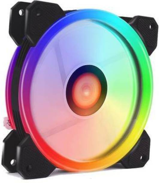 Obvie 120 Auto RGB Fans 120mm RGB Case Fans, Dual Light Loop RGB LED Fans, RGB Gaming PC Fans, Quiet Cooling Computer Fans Cooler