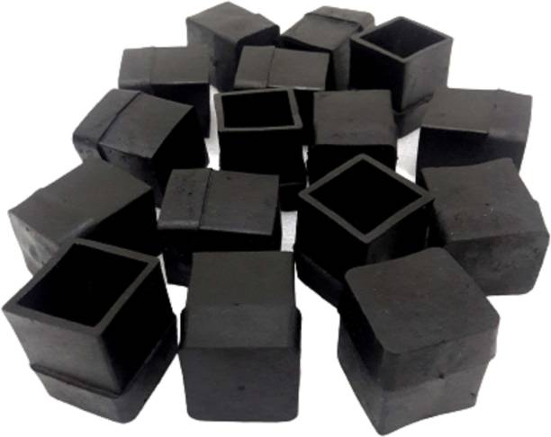 FLORAGREEN Square Rubber Cap for Chair Table Furniture Leg Cover Floor Protector Pads 1 inch x 1 inch Internal Size (16 PC) Table Legs