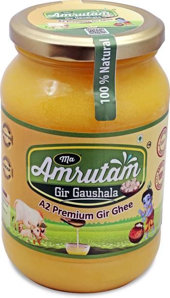 Ma Amrutam Gir Gaushala Ghee 1000ml Ghee 1000 L Glass Bottle