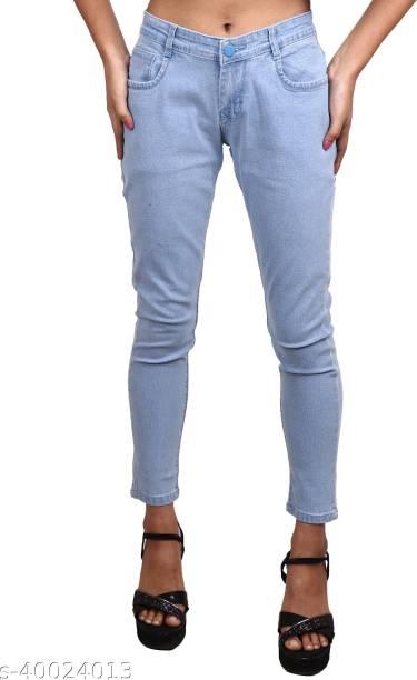 CEFALU Slim Women Light Blue Jeans
