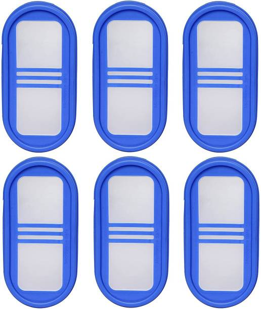 Cutting EDGE Set Of 6 | 3Line Blue | Modular Containers Lids For Boxes Microwave & Dishwasher Safe 0 inch Lid Set