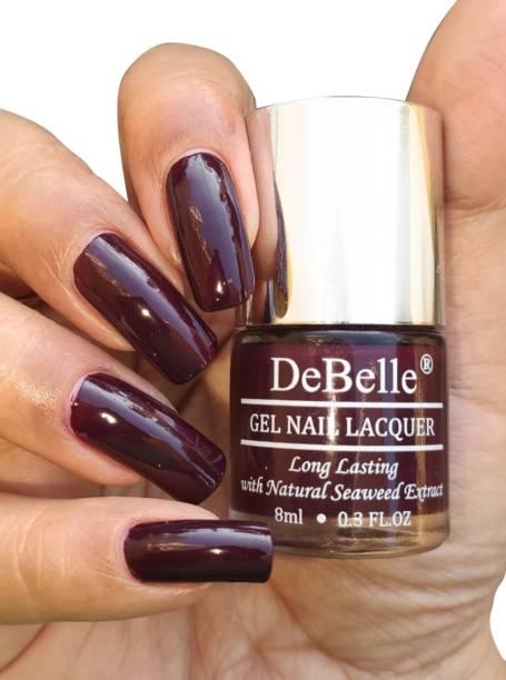 DeBelle Gel Nail Lacquer Dark Maroon -Nail polish 8ml Glamorous Garnet