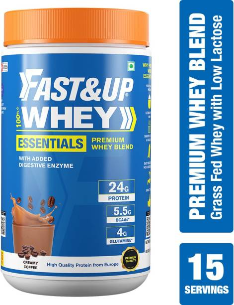Fast&Up Whey Essentials, Low Lactose, Easy Digestion, Banned Substance Free – 15 Servings Whey Protein