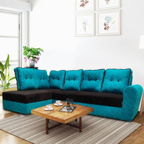 ELTOP Corner sofa L shape for bedroom Fabric 6 Seater  Sofa