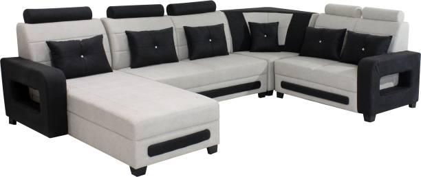 Urban Daily U Shaped Fabric 7 Seater  Sofa