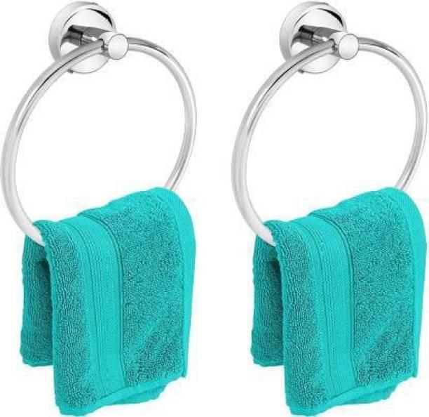 Zesta Stainless Steel Towel Ring/Napkin Ring - Bathroom Towel Holder - Towel Hanger With (Pack Of 2) Chrome Finish Towel Holder
