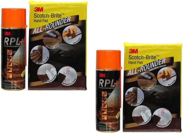 3M Rust Penetrant Lubricant Plus 400ml with Fee Scotch-Brite Handpad - Pack of 2 Brake Oil