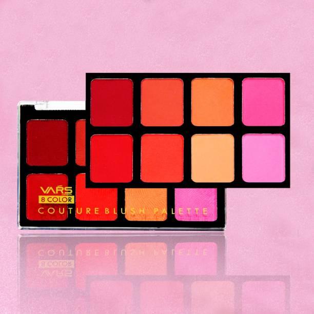 VARS LONDON 8 color face makeup base blusher | face blusher | makeup blusher | matte and shimmer blusher | pack of 1
