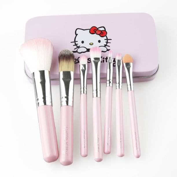 Hello Kitty Brush set pink [pack of 7] different brush for different applies